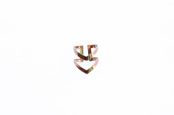 rose gold double arrow ring