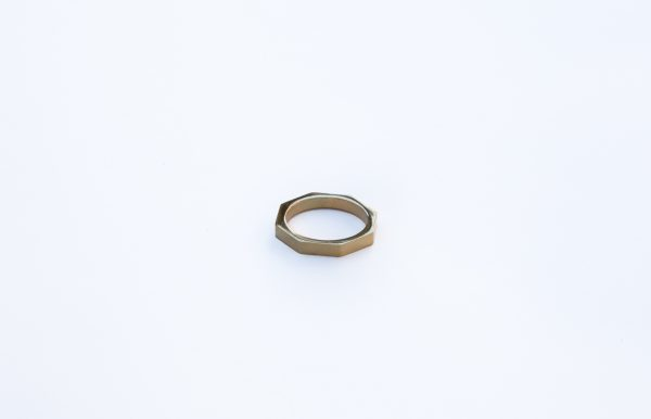 gold bolt nut hexagon stacking ring
