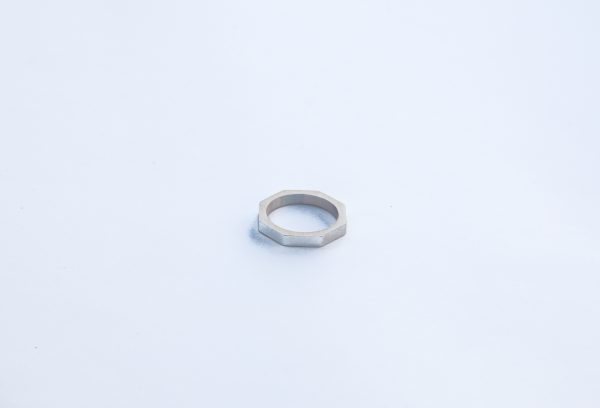 silver bolt nut hexagon stacking ring