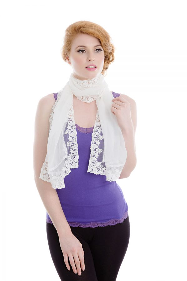 white women's shawl