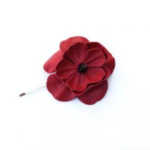 poppy flower hair grip