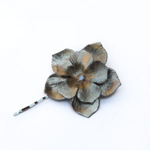 gold flower hair grip