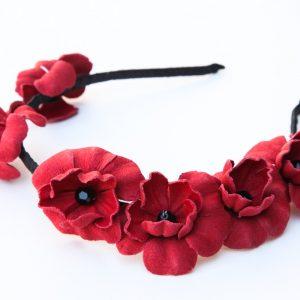 Matte enamel poppy pin, sparkle stamen | Beverley Edmondson