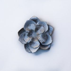 silver white flower brooch