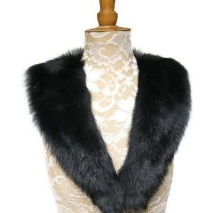 black sheepskin collar