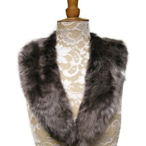 brown sheepskin collar