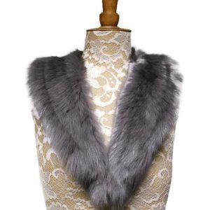 grey sheepskin collar