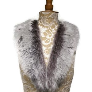 taupe sheepskin collar