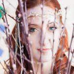 Elegant bride with silver head piece by Beverley Edmondson Millinery