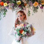 Tribal photoshoot bride wearing jewellery head pieces by Beverley Edmondson Millinery