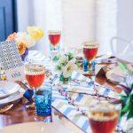 Tribal themed wedding table decor city wedding photoshoot