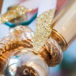 Golden decor urban tribal wedding photoshoot