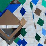 Geometric pattern decor urban tribal photoshoot