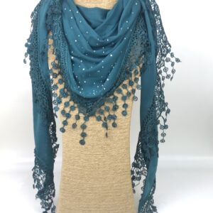 Patterned and Embellished Scarves and Wraps