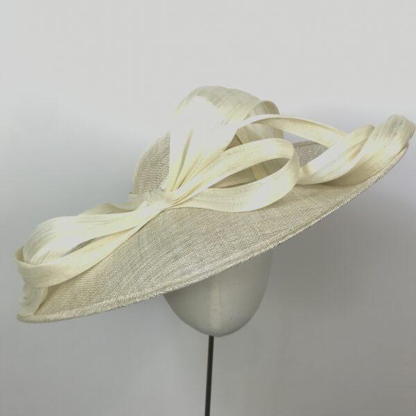 cream metallic mother of the bride wedding hat farnham